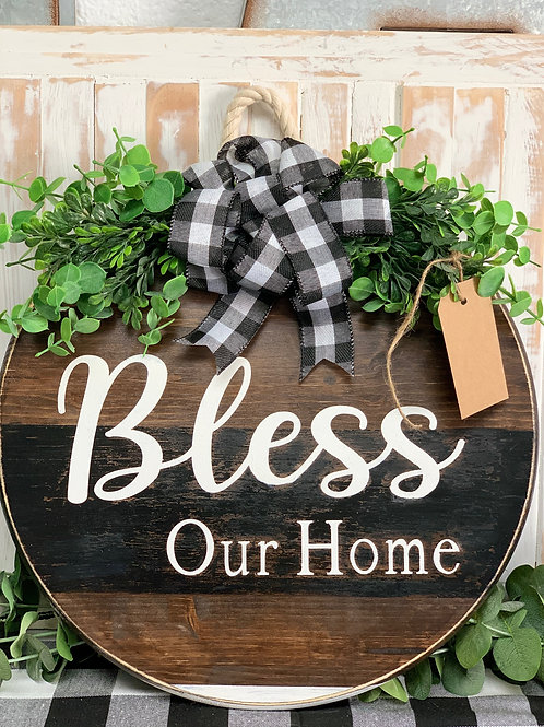 Bless Our Home - Door Hanger