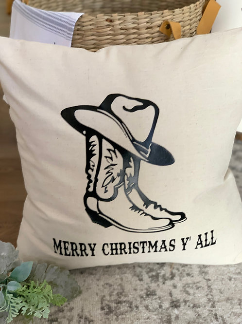 Merry Christmas Y'all - Pillow