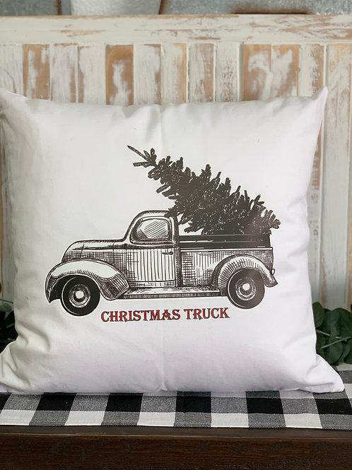 Christmas Truck - Pillow