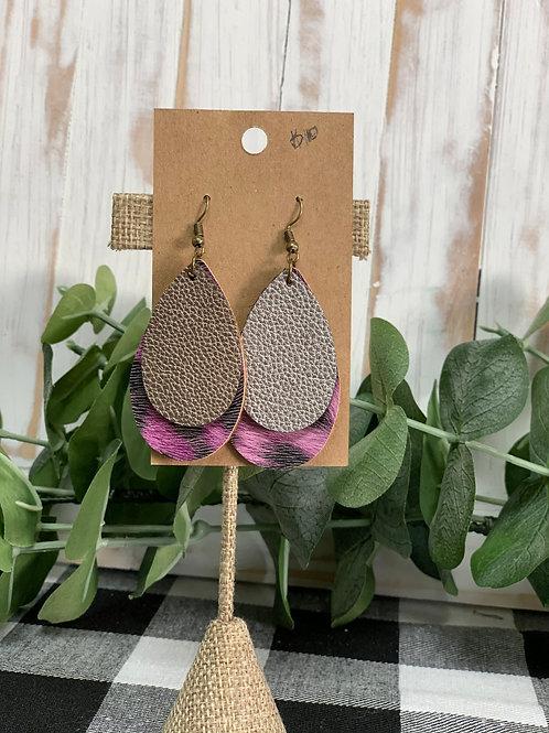 Dual Leopard Print Earrings