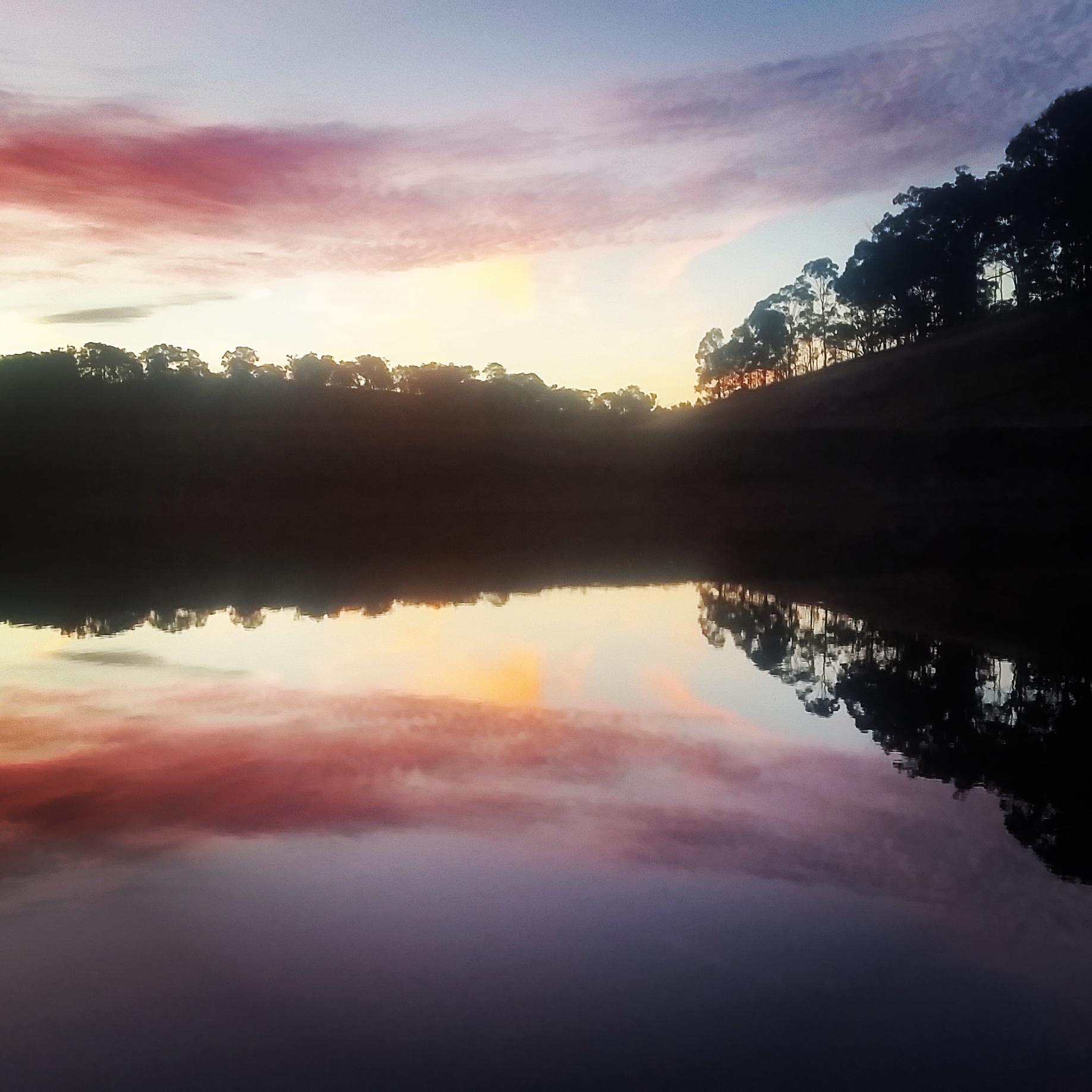 Dam at Sunset