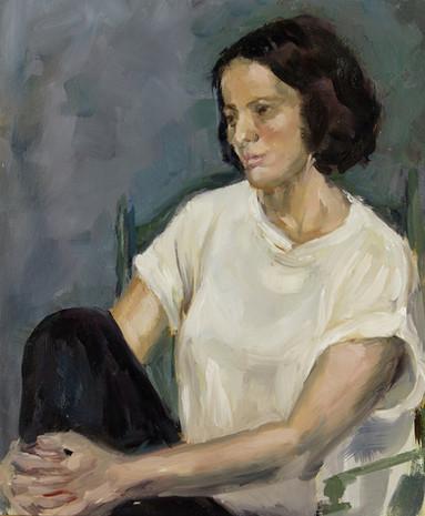 La jeune fille assise