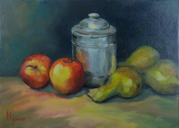 Le pot de zinc et fruits