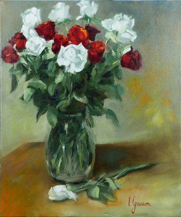 Roses rouges et blanches