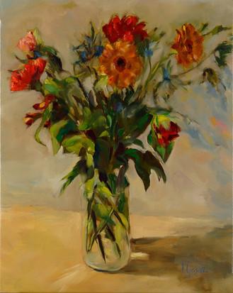 Bouquet aux fleurs rouges