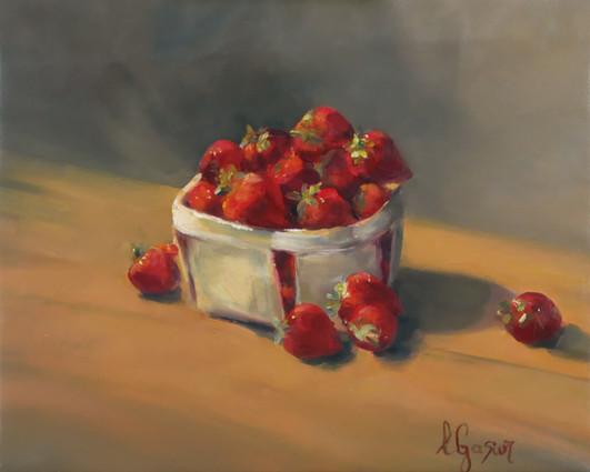 Le panier de fraises