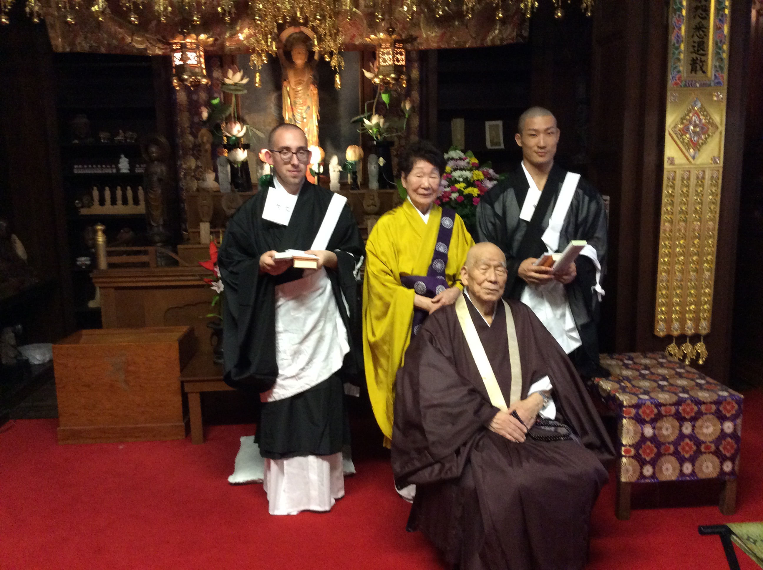 Priests after tokudo at Hawaii Betsuin