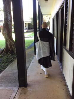 Rev. Jiei at dormitory