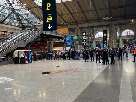Un homme agressé avec un couteau gare du Nord à Paris - Atteint à la gorge,