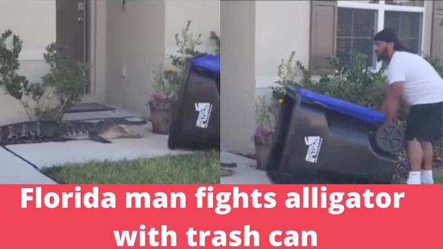 En Floride, un homme capture un alligator avec une poubelle
