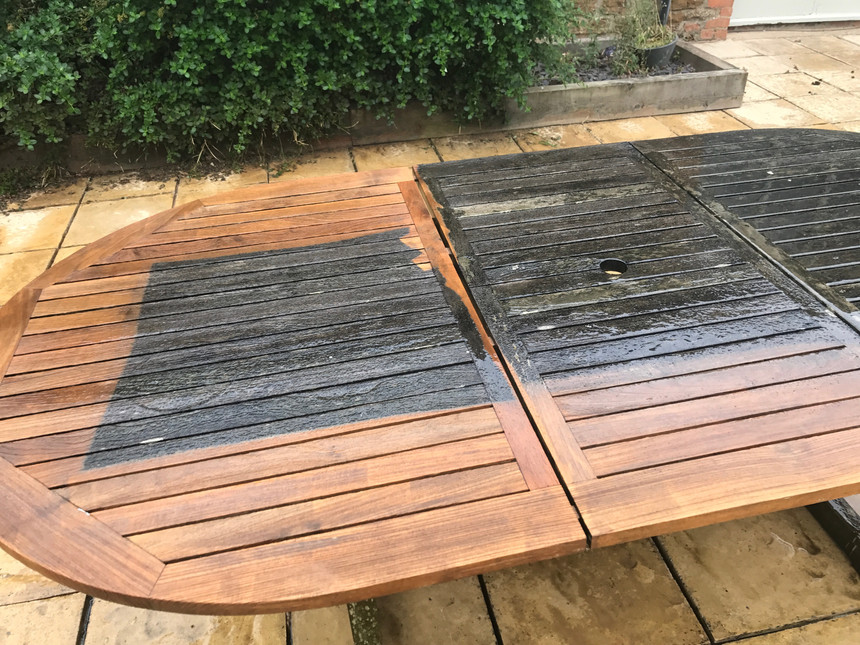 GARDEN FURNITURE CLEANING AND TREATING OIL IN EASTBOURNE BRIGHTON EAST SUSSEX