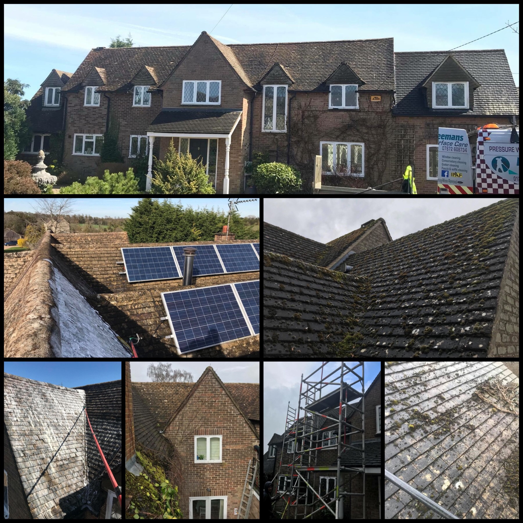 ROOF CLEANING AND SOFTWASHING MOSS REMOVAL