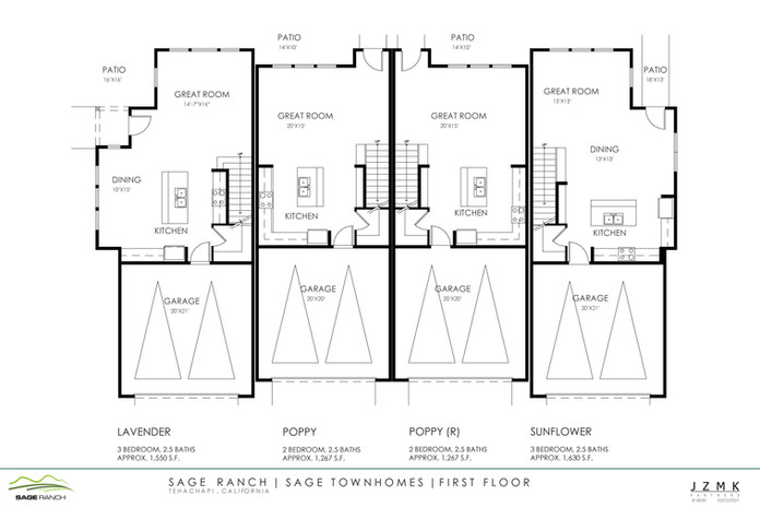Sage Townhomes First Floor