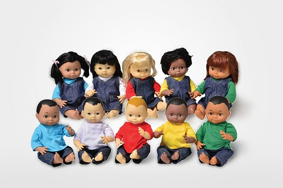 Ethnic Dolls ( 10 pc set )
