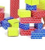 Edu shape Corrugated  Brick Blocks- 52 pcs