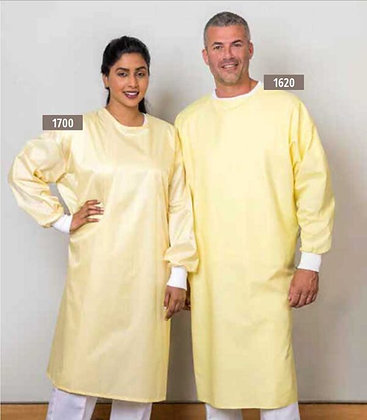 Isolation Gown / yellow/ washable