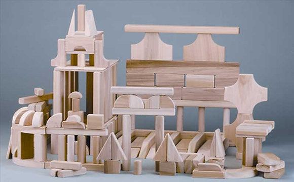 Solid Hardwood Play blocks – #810- 90PCS.