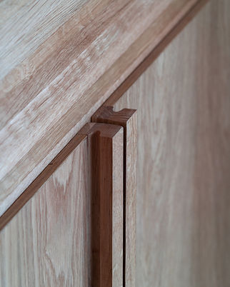 Closet handle detail