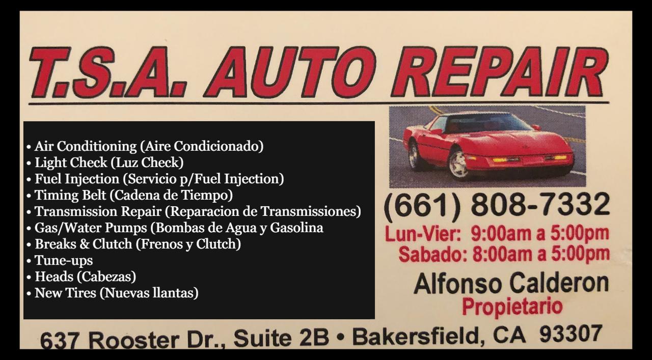 T.S.A. Auto Repair