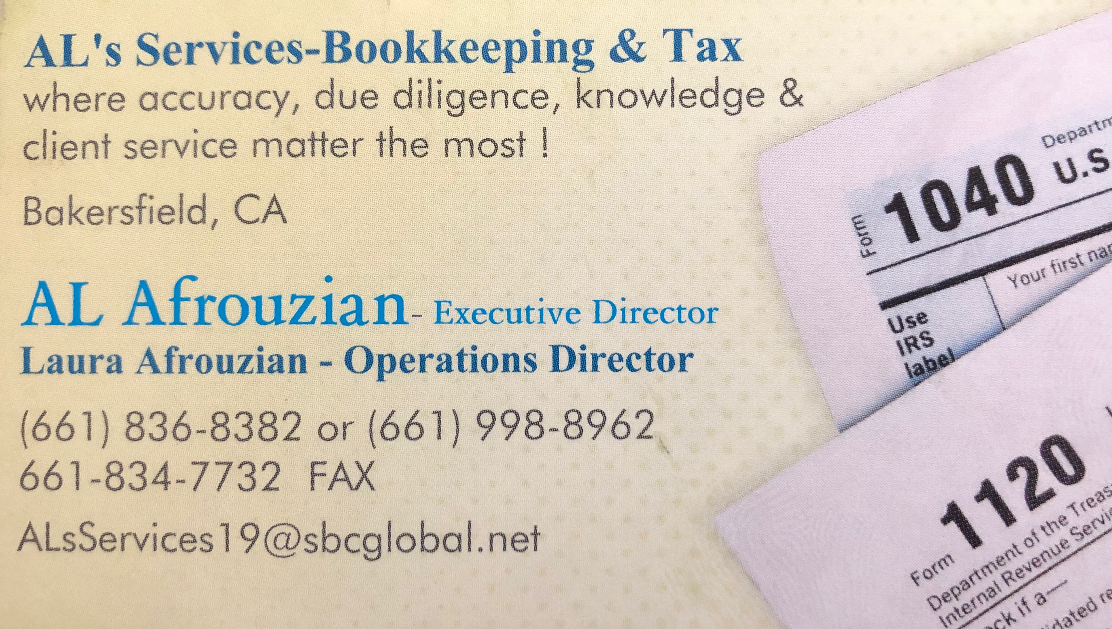 Al's Services - Bookkeeping & Tax