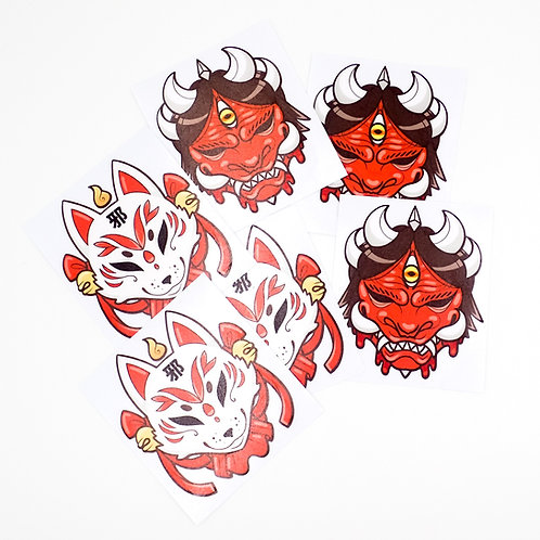 Mask Decals: Kitsune & Oni