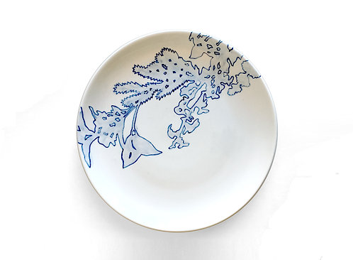 Blue & White Plate No 2