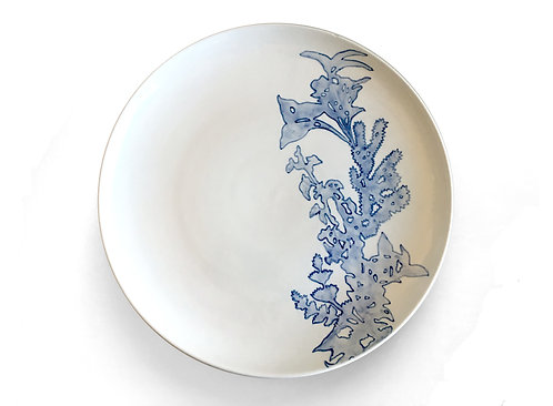 Blue & White Plate No 6