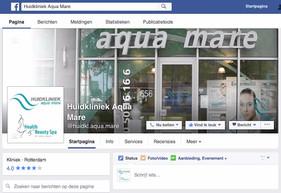 Huidkliniek Aqua Mare nu ook op Facebook & Instagram te volgen