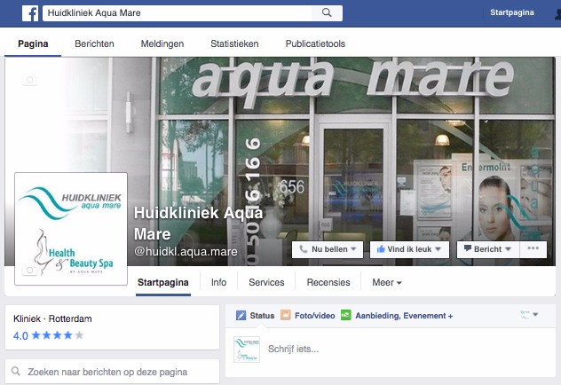 Aquamare op Facebook