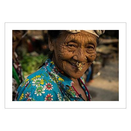 OLD WOMAN BELDANGI REFUGEE CAMP NEPAL   Nana Buxani