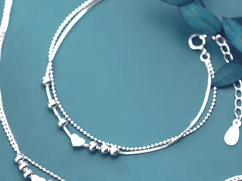 925 Sterling Silver Heart Bracelet