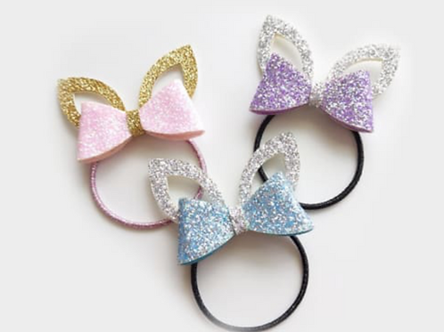 Children's Cat Ear with Bow Hair Tie