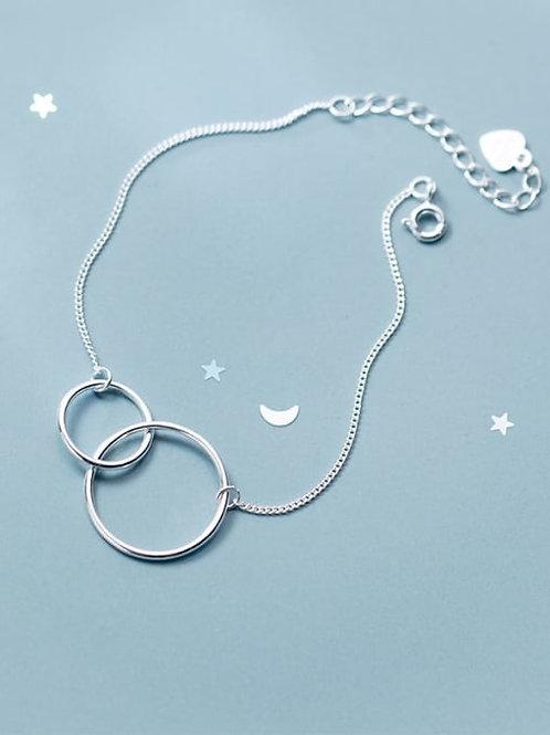 925 Sterling Silver Circle Link Bracelet