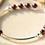Thumbnail: Sterling Silver and Red Garnet Beaded Bracelet