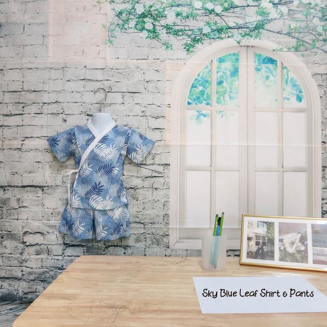 Sky Blue Leaf Shirt & Pants