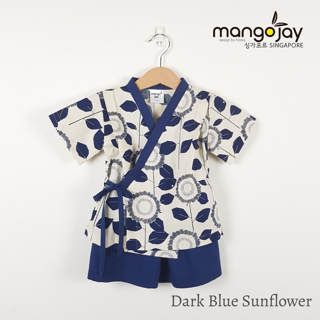 Dark Blue Sunflower Shirt & Pants
