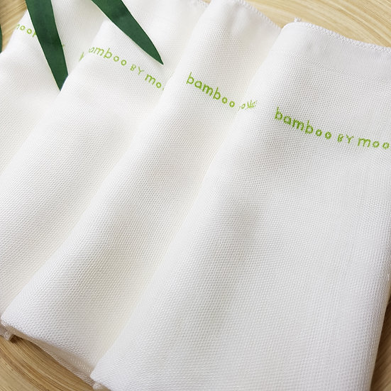 Bamboo Gauze Mouth Handkerchief (Bundle of 6 pcs)