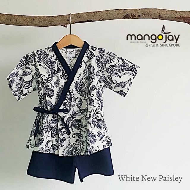 White New Paisley Shirt & Pants