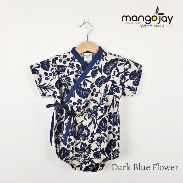 Dark Blue Flower Romper