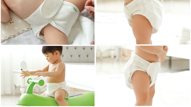 Peanut Shape Cloth Diaper Set (2 Insert + 1 Cover)