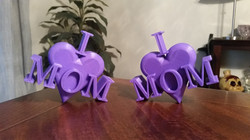 """Mothers Day Gift - """"I Heart Mom"""""""