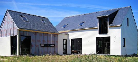 Maison ossature bois bardée