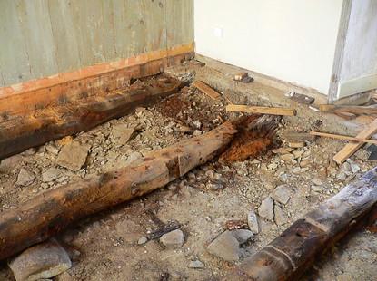 Plancher avant rénovation