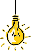 Light bulb depicting light bulb moment
