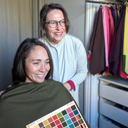 Client sees results of Personal Colour Analysis at The Colour Clinic
