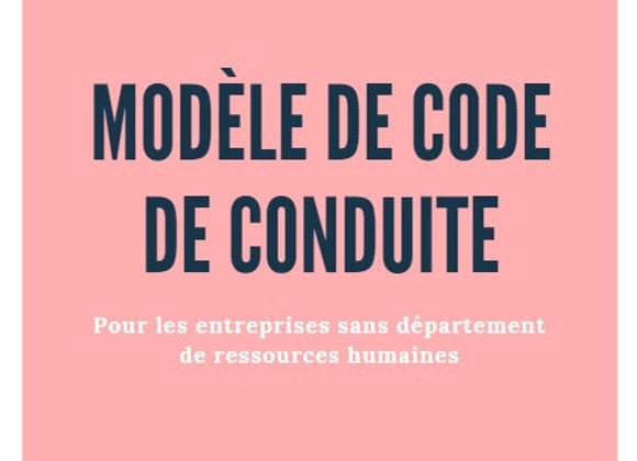 Modèle de code de conduite