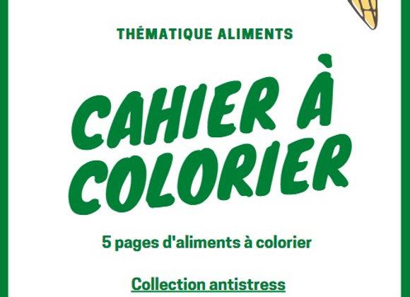Cahier à colorier : thématique aliments