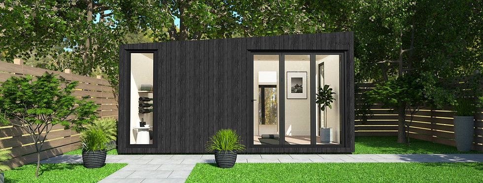 Insulated Garden Room with Floor-to-Ceiling Windows   5m x 3m