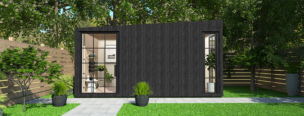 Insulated Garden Room with Privacy and Crittall-style Windows | 5m x 3m