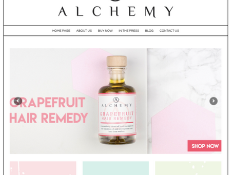 Our Work: Alchemy Oils Home Page